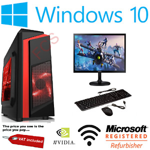 ULTRA FAST Gaming PC Bundle Intel Core i5 2400 16GB 1TB Windows 10 2GB GT710