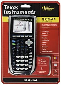 Texas Instruments TI-84 Plus C Silver Edition Graphing Calculator Black