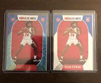 2020-21 Panini NBA Hoops Isiah Stewart Teal Explosion RC Rookie & Base- Pistons