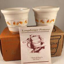 Longaberger Votive Set - Candy Corn - Total of 2 - New wi/original box