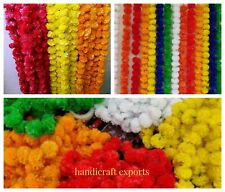 Pack of 20 Artificial Wedding Decoration Marigold 5 feet Flowers Garlands Home