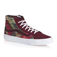 Vans Sk8 Hi Slim Italian Weave Port Royale Red Shoes Mens 8.5 Women 10