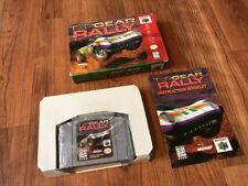 Nintendo 64 Top Gear Rally Complete Box Manual Plastic Great Cart