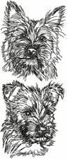 Cairn Terrier Dog Personalized Embroidered Fleece Stadium Blanket Gift