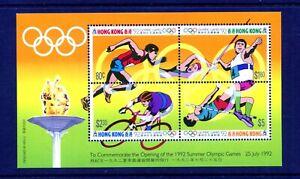 HONG KONG 1992 Olympic Games Barcelona (3rd issue)  Miniature sheet SG MS722 MNH
