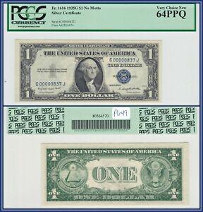 Low 3-Digit Fancy 1935G $1 No Motto Silver Certificate PCGS 64 PPQ Unc Dollar