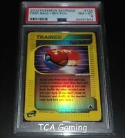 PSA 8 NM-MINT Fast Ball 124/144 Skyridge Set REVERSE HOLO Pokemon Card