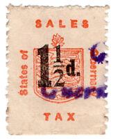 (I.B) Guernsey Revenue : Sales Tax 1½d (German Occupation)