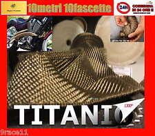 """BENDE BENDA termica FASCIATURA COLLETTORI MOTO BASALTO colore titanio stabile """""""