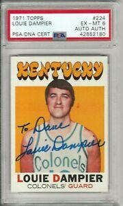 Louie Dampier 1971-72 Topps Rookie Signature Autograph AUTO RC *POP 1* PSA/DNA 6