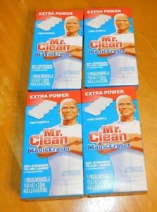 Lot of 4: Mr. Clean Magic Eraser Extra Power - Free Shipping