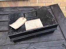 Vintage Metal Deed box