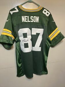 GREEN BAY PACKERS JORDY NELSON SIGNED GREEN JERSEY