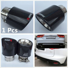 """Metal+Real Carbon Fiber 63mm 2.5""""Inlet 114mm 4.5""""Outlet Car Exhaust Muffler Pipe"""
