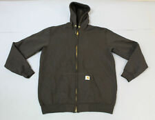 Carhartt Men's Mid-Weight Full-Zip Hooded Sweatshirt Jacket BF5 Brown Large