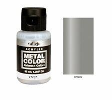 Vallejo Paints Metal Color VLJ-77707 Chrome Metal Color 32ml Bottle