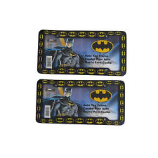 "2Pc DC Comics Batman Logo Plastic License Plate Frames Universal 12.5"" x 6.5"""