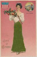 CALIFORNIA CA - California State Silk Covered Postcard