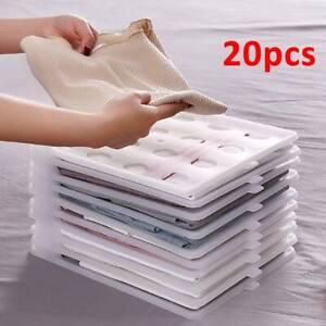 20 PACK Magic T-Shirt Folder Home Clothes Organizer Folding Board Adult Kid UK