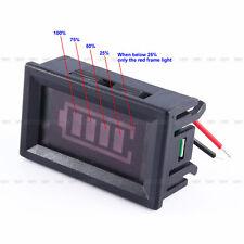 4 Porcentaje de electricidad de 12V poder indicador de bateria de plomo acido