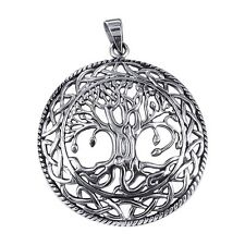 Sterling Silver (925)  Tree  Of  Life  Pendant  ( 7.5 Grams  )  !!    New  !!