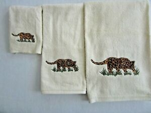 Leopard 3-Piece Towel Set