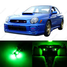 5 x Green LED Interior Lights Package For 2002 - 2003 Subaru Impreza WRX STI