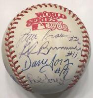 OZZIE SMITH HERZOG Team Signed 1982 ST. LOUIS CARDINALS World Series Baseball