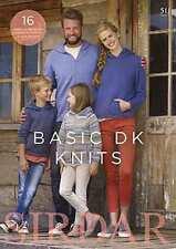 Sirdar basic dk knits book 511 16 designs pour hommes, femmes et enfants