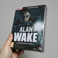ALAN WAKE (2012) PC Collector's Edition +Soundtrack CD, Book, Stickers *SEALED*!