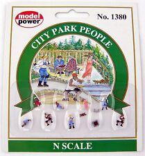 N Scale City Park People (9 pcs) - Model Power #1380