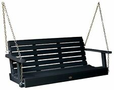 Highwood Weatherly Porch Swing 5-Feet Black New