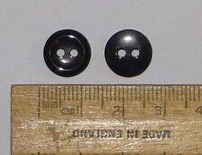100 X Pequeño Negro Botones De Plástico Redondo 11.6 mm 2 agujeros británico JOBLOT al por mayor