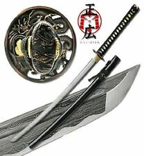 Katana Samurai Sword Japanese Battle Ready Folded Steel Real Swords Damascus