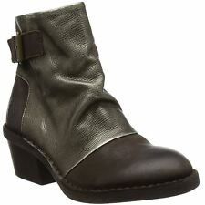 Fly London Dape 897 Chocolate Bronze Womens Leather Ankle BOOTS 39 EU