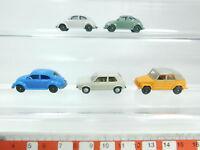 BH86-0,5# 5x Wiking H0/1:87 PKW-Modell Volkswagen/VW: Käfer+Golf+181, sehr gut