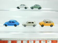 bh86-0, 5 #5x Wiking H0 / 1:87 CAR MODEL VOLKSWAGEN / VW: Beetle + Golf +181,