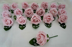Wedding Buttonholes Pearl loop, Diamante Pin, Groom,Best Man,Guest 28 Colours