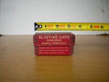 Vintage Du Pont 100 Blasting Caps Box No. 6 Wilmington, Del. Metal Corners