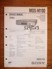 Service Manual für Sony MDS-M100 Minidisc Deck,ORIGINAL