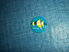 """1980 Moscow Tallinn Sailing Regatta 1 1/2"""" Button Made in the USSR by Norma LLE"""