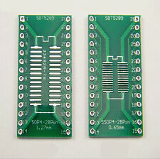 5pcs SOP28 SSOP28 TSSOP28 to DIP28 Adapter Converter PCB Board 0.65/1.27mm