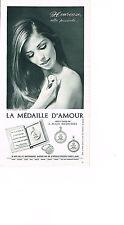 PUBLICITE ADVERTISING  1967   LA MEDAILLE D'AMOUR