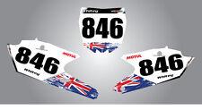 Yamaha YZF 250 / 450 - 2014 - 2015 Aussie Pride Custom number Plates
