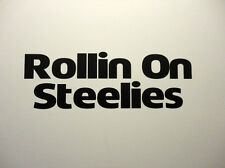 Rollin sobre Steelies Grande (201x69mm), coche divertido pegatina de vinilo Vw Bbs