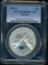 1988-S Olympic Commemorative Silver Dollar PCGS PR68DC SPOT FREE .7734 oz Silve