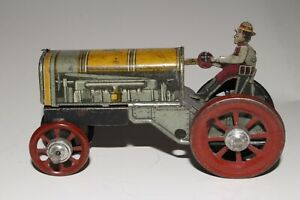 1920's Distler Made in Germany Penny Toy, Tin Farm Tractor, Nice Original