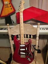 2002 Fender USA Highway One Stratocaster Nitro Transparent Red - Natural Relic