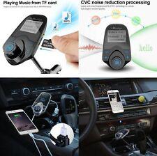 1.44''Screen Car Wireless Bluetooth T10 FM Transmitter Handsfree Kit USB Charger