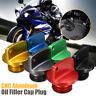 CNC Motorcycle Bike Oil Filler Cap Plug For Honda Ducati Kawasaki Ninja